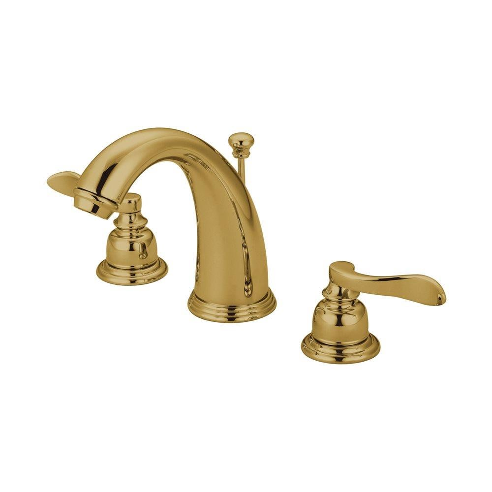 Elements Of Design Nuwave French Polished Brass 2 Handle Widespread Bathroom Sink Faucet With Drain In The Bathroom Sink Faucets Department At Lowes Com