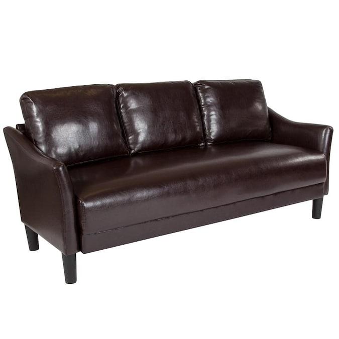 Flash Furniture Asti Modern Brown, Is Faux Leather Sofa Good