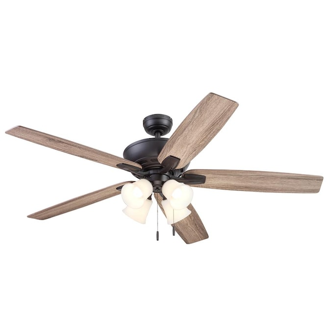 Harbor Breeze Macon Bay 62 In Bronze Led Ceiling Fan 5 Blade In The Ceiling Fans Department At Lowes Com