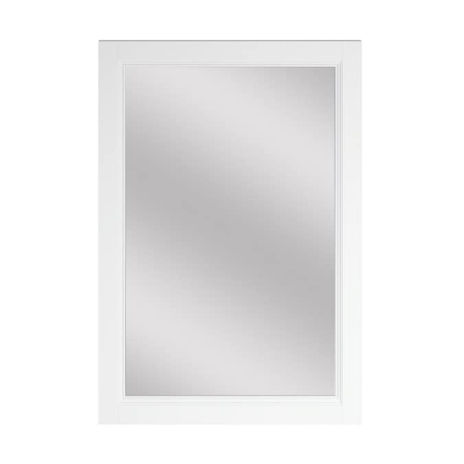 Allen Roth Canterbury 22 In White Rectangular Bathroom Mirror In The Bathroom Mirrors Department At Lowes Com
