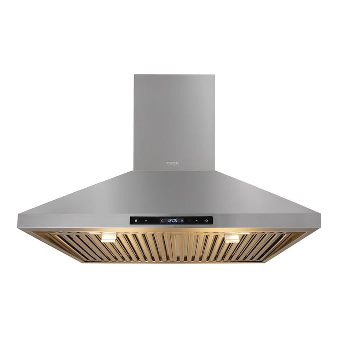 Thor Kitchen 30 In Ducted Stainless Steel Wall Mounted Range Hood In The Wall Mounted Range Hoods Department At Lowes Com