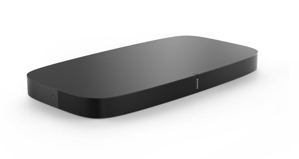 Sonos PLAYBASE 28.35-in 2.1-Channel Black Sound Bar | PBASEUS1BLK