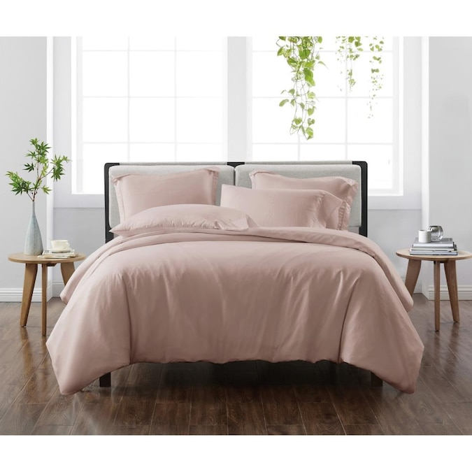 Piece Blush Full Queen Duvet Cover Set, What Color Goes With Blush Bedding