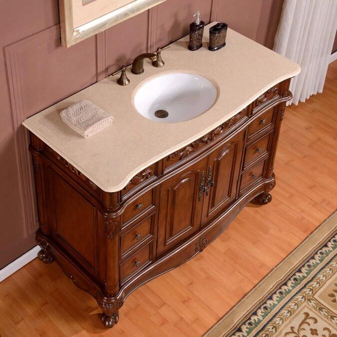 Crema Marfil Natural Marble Top, 5 Ft Bathroom Vanity