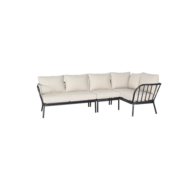 Style Selections Westchester Outdoor, Black Metal Patio Sofa