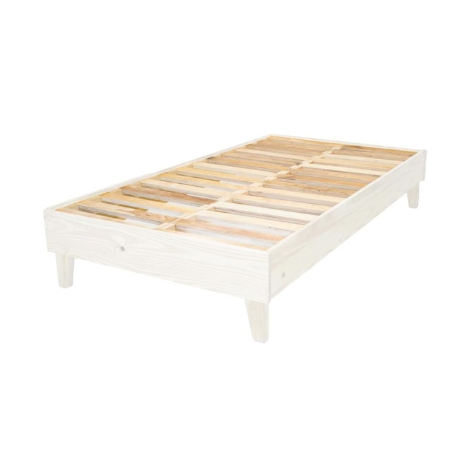 Eluxury White Twin Extra Long Bed Frame, How Many Inches Is A Twin Size Bed Frame