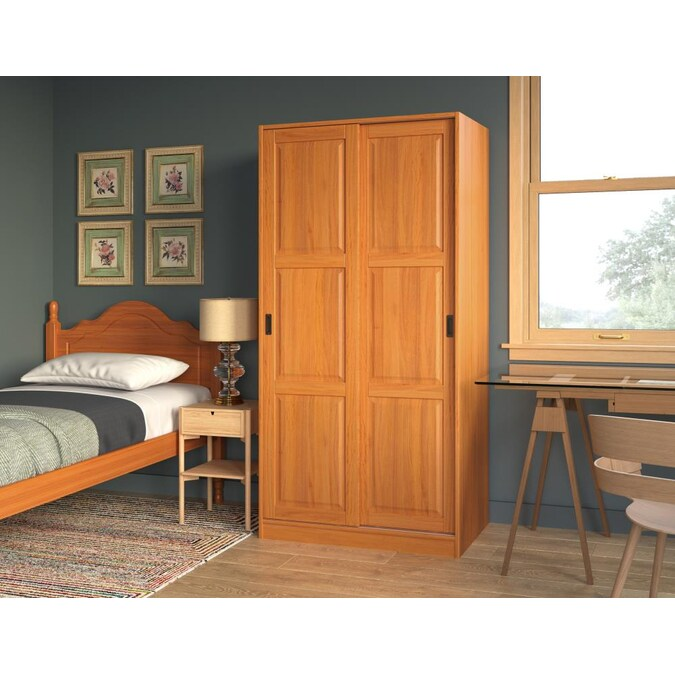 Palace Imports Honey Pine Armoire In The Armoires Department At Lowes Com