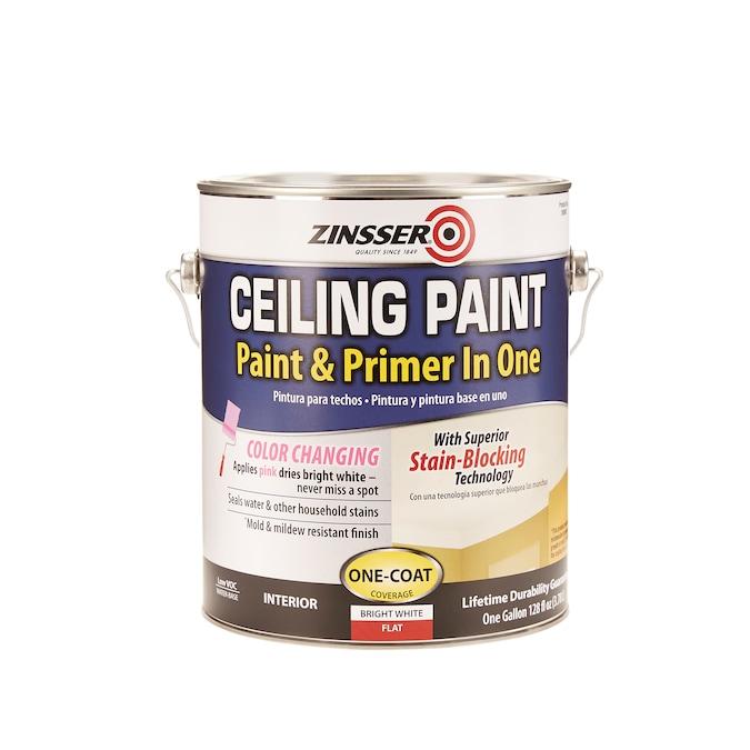 Zinsser Ceiling Flat Matte Bright White, Primer For Bathroom Ceiling