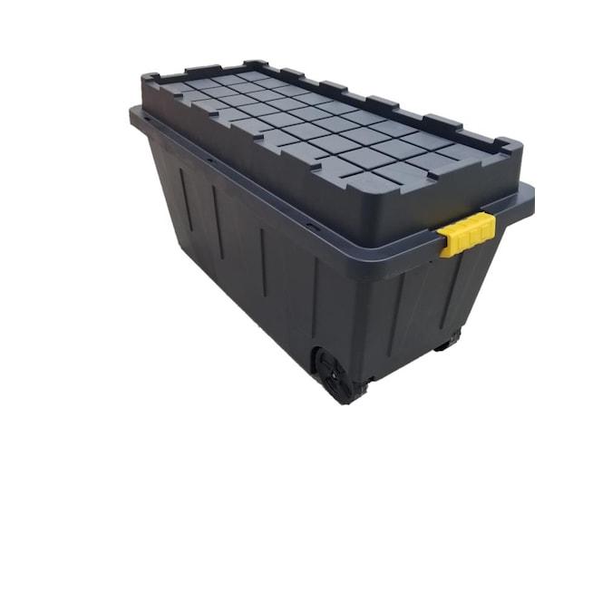 Commander 64 Gallon 256 Quart Black, Large Storage Tote