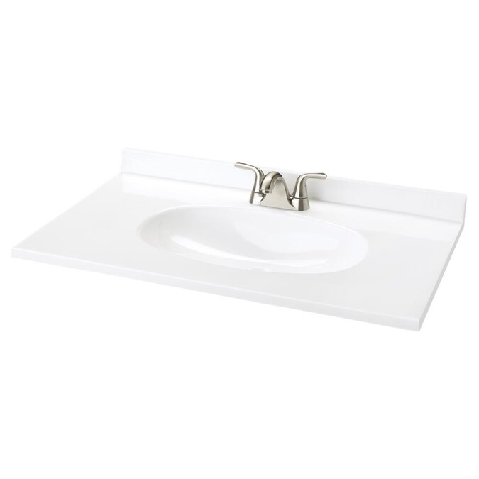 Project Source Cultured Marble Vanity, 65 Wide Bathroom Vanity