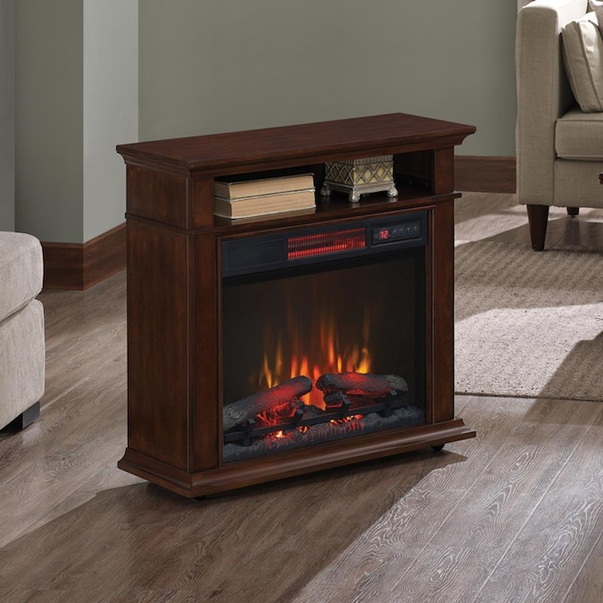 Duraflame 31 5 In W Cherry Infrared, Quartz Electric Fireplace