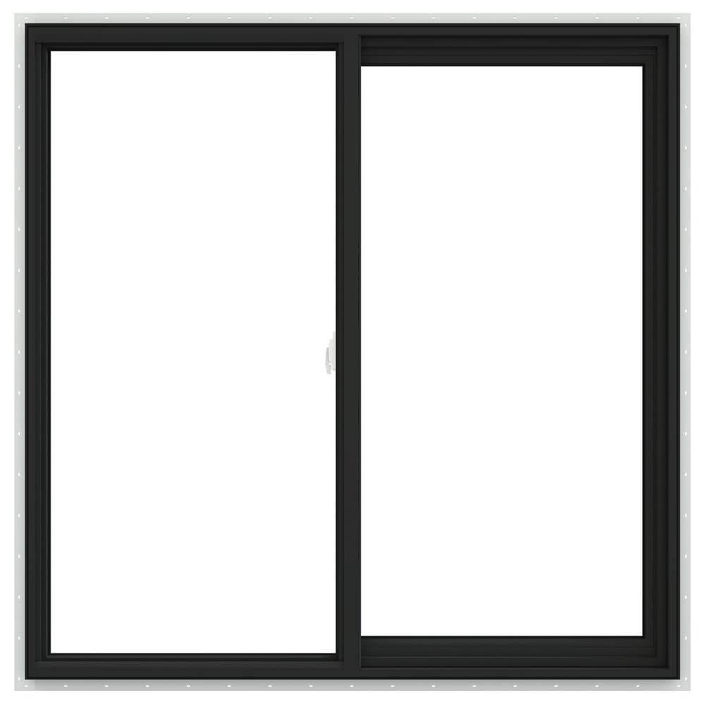 V-2500 47.5-in x 47.5-in x 2.9065-in Jamb Right-operable Vinyl New Construction Egress Bronze Sliding Window   - JELD-WEN LOWOLJW232900545