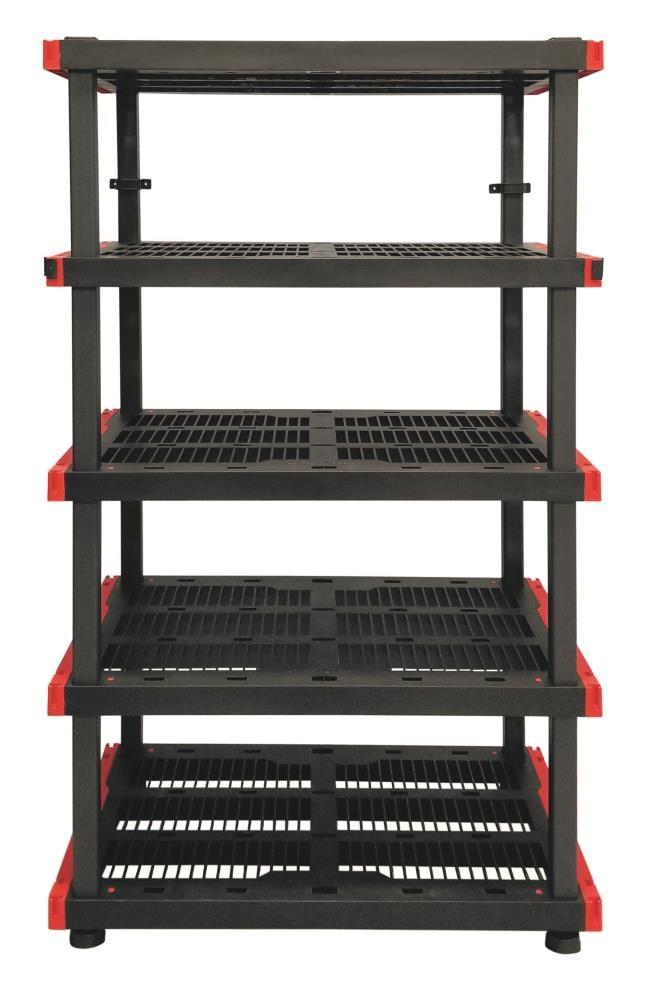 5 Tier Plastic Utility Shelving Unit, Craftsman 72 2 Door Tall Floor Cabinet With Shelves