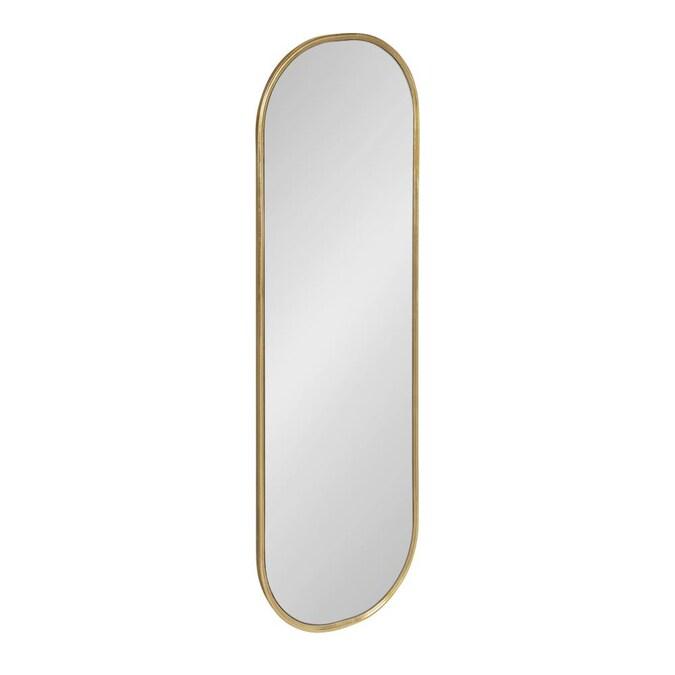 W Oval Gold Framed Wall Mirror, Full Length Oval Wall Mirror