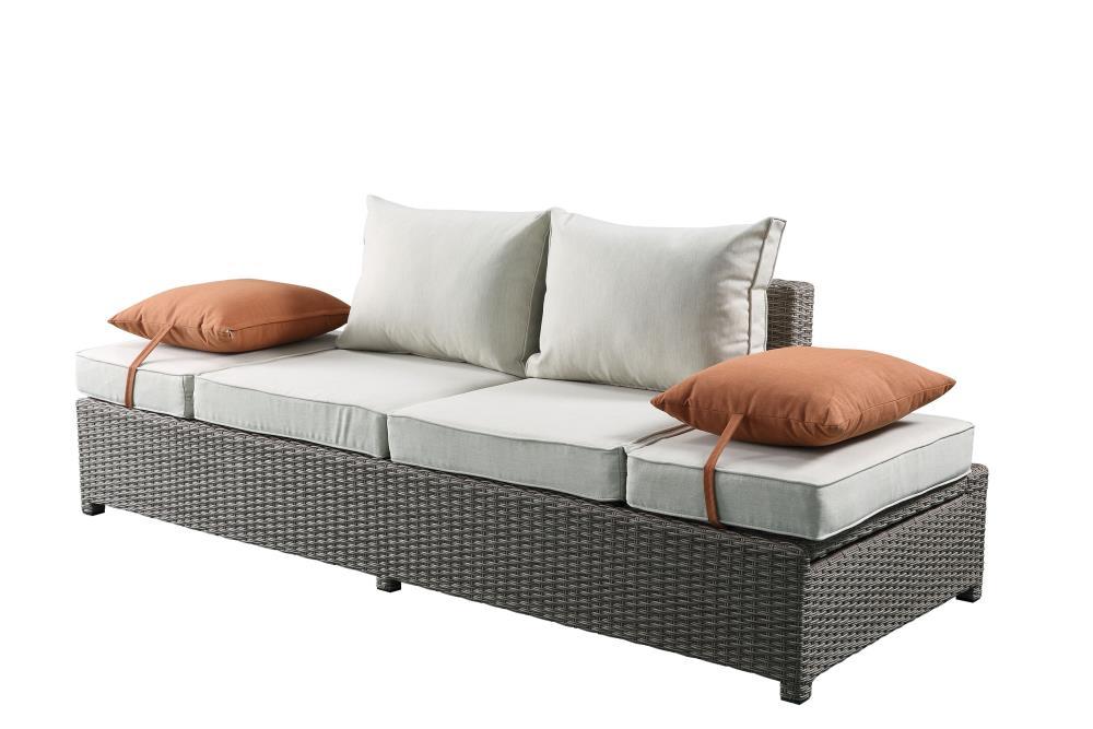 Acme Furniture Na Wicker Outdoor, Gray Wicker Patio Furniture