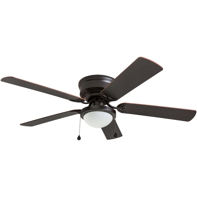 Harbor Breeze Armitage 52 In Bronze Led Flush Mount Ceiling Fan 5 Blade In The Ceiling Fans Department At Lowes Com