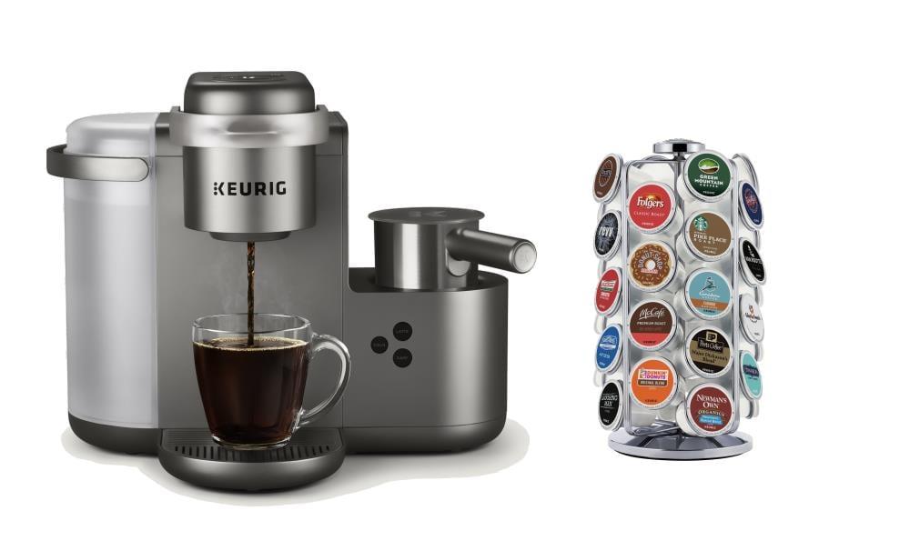Keurig K-Cafe Brushed Silver Programmable Single-Serve Coffee Maker | K-CAFEC
