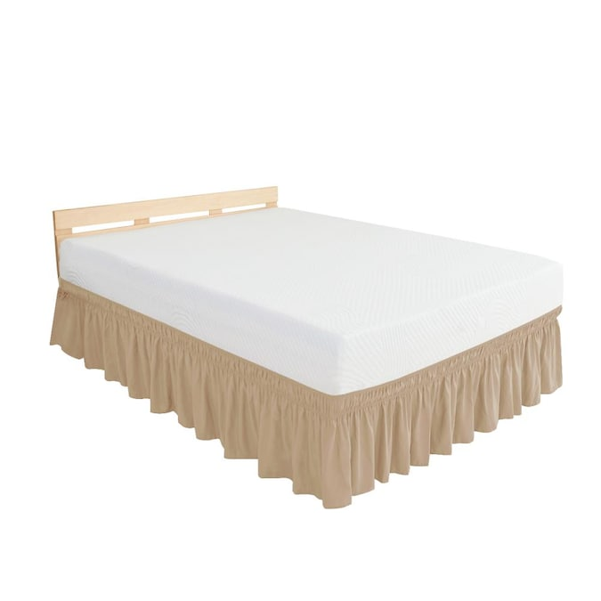 Subrtex Elegant Soft Replaceable Wrap, Wrap Around Bed Skirt Queen Size