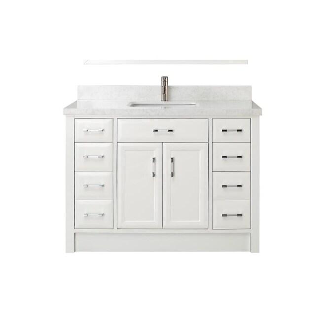 Spa Bathe Calumet 48 In White, 48 Single Sink Bathroom Vanity