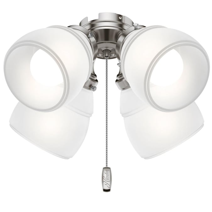 Hunter Hunter 4 Light Brushed Nickel Ceiling Fan Fitter In The Ceiling Fan Light Kits Department At Lowes Com