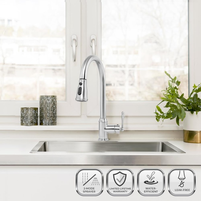 Akdy Drop In 33 In X 22 In Brushed Stainless Steel Single Bowl 1 Hole Kitchen Sink In The Kitchen Sinks Department At Lowes Com