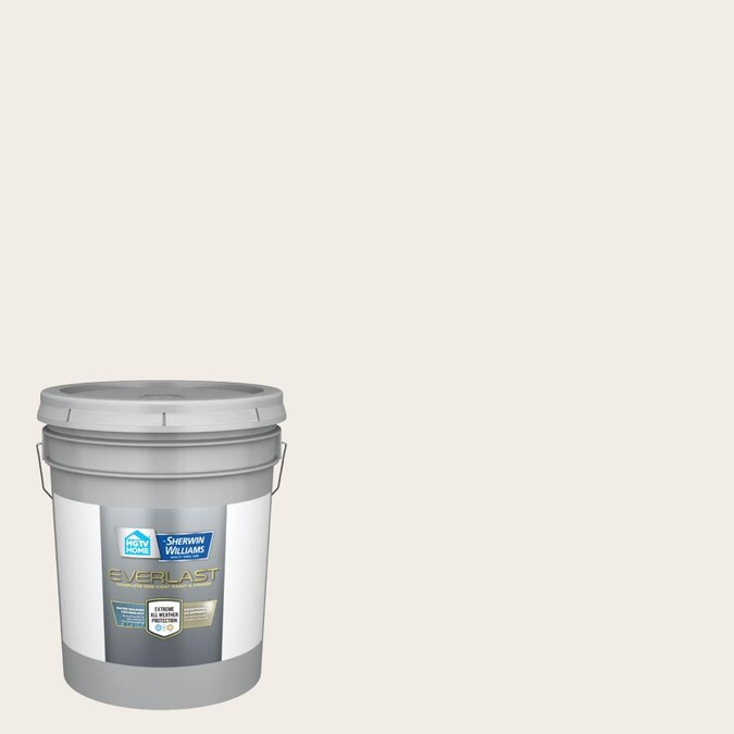 Hgtv Home By Sherwin Williams Everlast Semi Gloss Ibis White Exterior Paint 5 Gallon In The Exterior Paint Department At Lowes Com