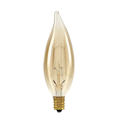 Ge 40 Watt Dimmable Ca10 Vintage Light, Incandescent Luminaire Chandelier Bulb