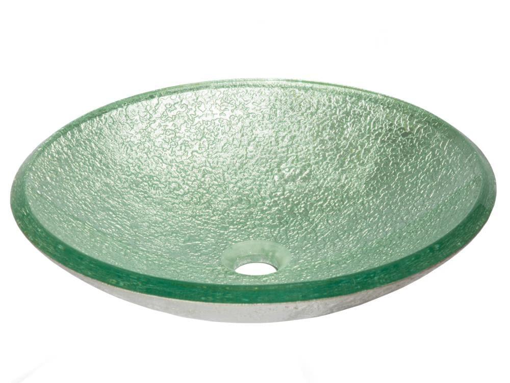 Eden Bath Green Glass Vessel Round, Green Glass Vessel Bathroom Sinks