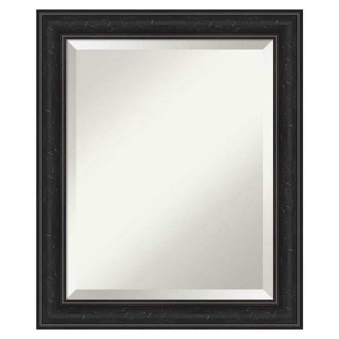 Amanti Art Shipwreck Black Frame Collection 20 In Distressed Black Rectangular Bathroom Mirror In The Bathroom Mirrors Department At Lowes Com