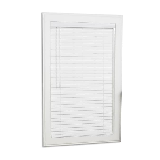 X 64 In Cordless White Faux Wood