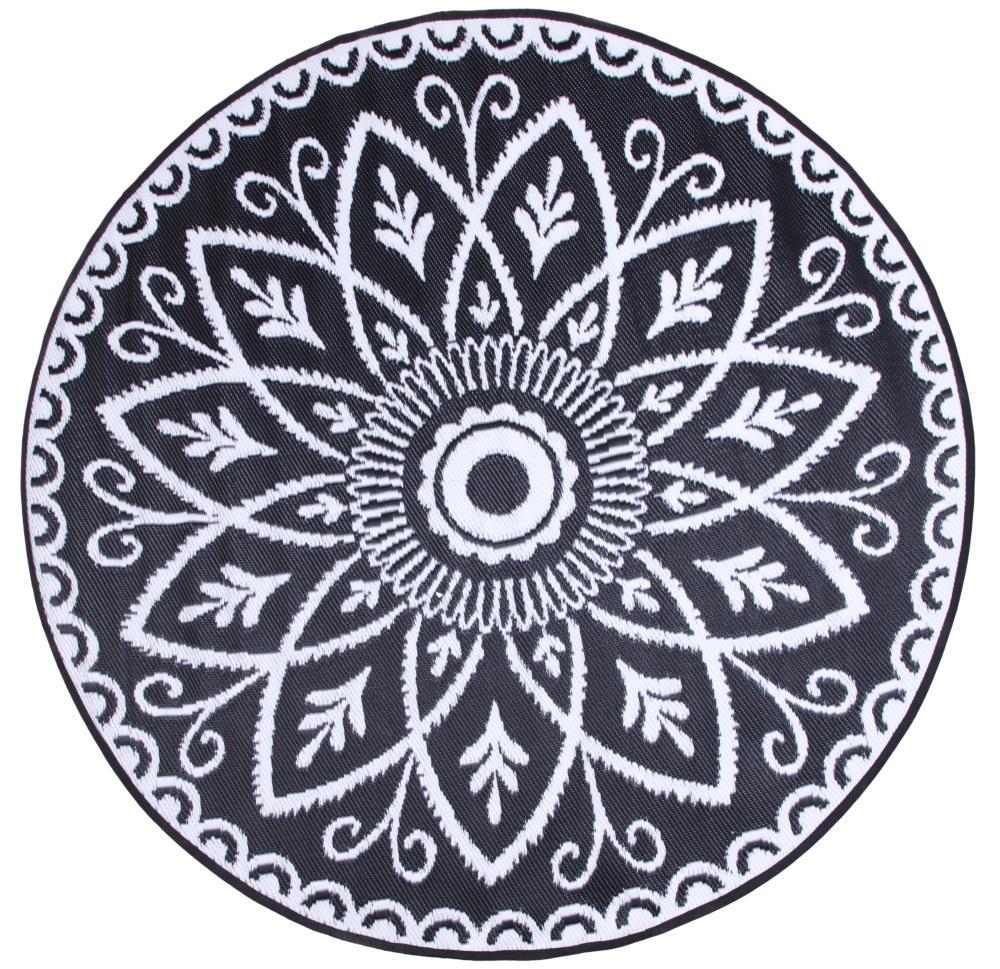 Style Selections Black White Round, Round Outdoor Rugs Australia