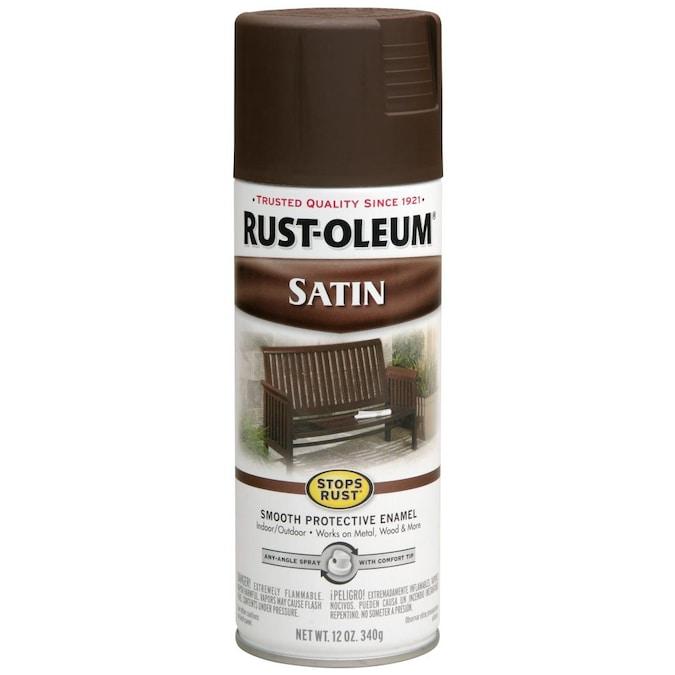 Rust Oleum Stops Satin Dark Brown, Dark Brown Furniture Spray Paint