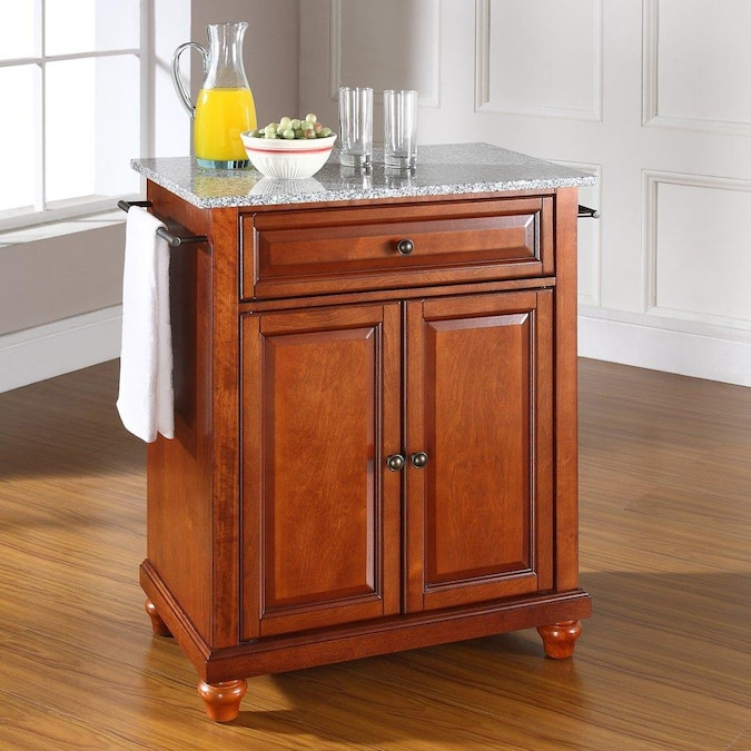 Crosley Furniture Brown Composite Base With Granite Top Kitchen Island 18 In X 28 In X 36 In In The Kitchen Islands Carts Department At Lowes Com