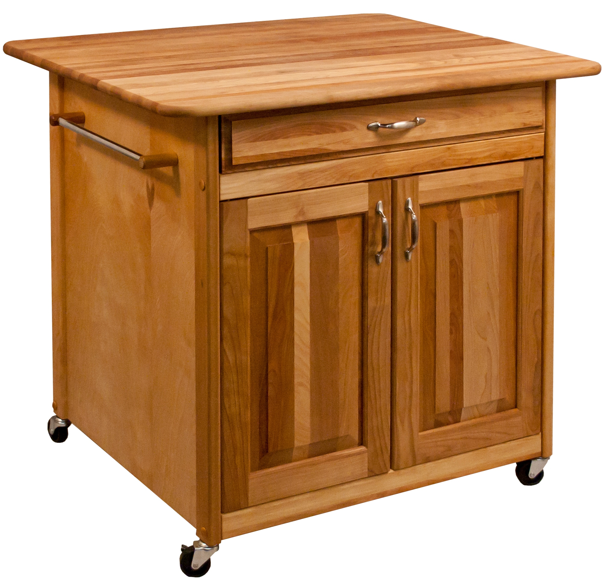 Catskill Craftsmen Brown Wood Base With Birch Butcher Block Top Kitchen Island 30 In X 36 In X 34 5 In In The Kitchen Islands Carts Department At Lowes Com