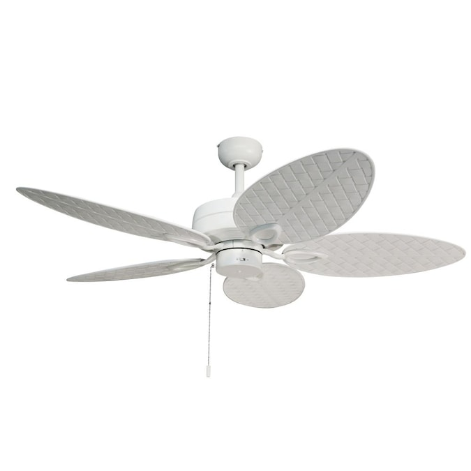 Harbor Breeze Tilghman Ii 52 In White Indoor Outdoor Ceiling Fan 5 Blade In The Ceiling Fans Department At Lowes Com