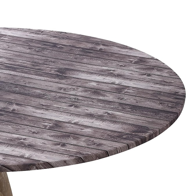Brielle Home Fitted Table Cover Wood, Round Fitted Table Covers