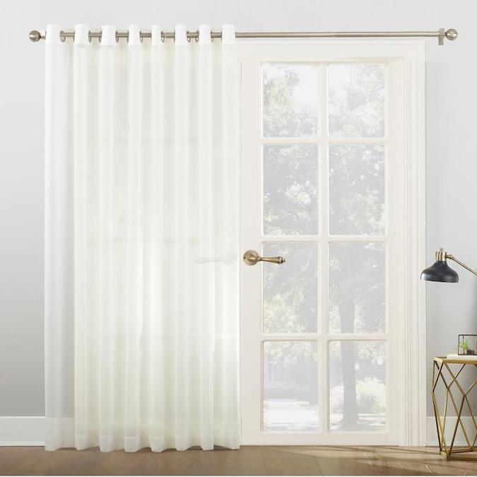 Sheer Grommet Single Curtain Panel, Patio Panel Curtains