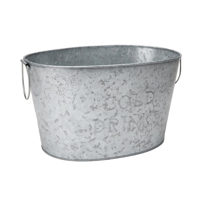 Handles Party Tub For Drinks Ice, Round Beverage Tub