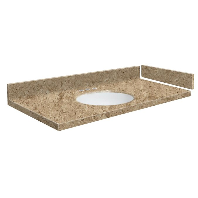 Transolid 58 In Sand Mountain Solid Surface Single Sink Bathroom Vanity Top In The Bathroom Vanity Tops Department At Lowes Com