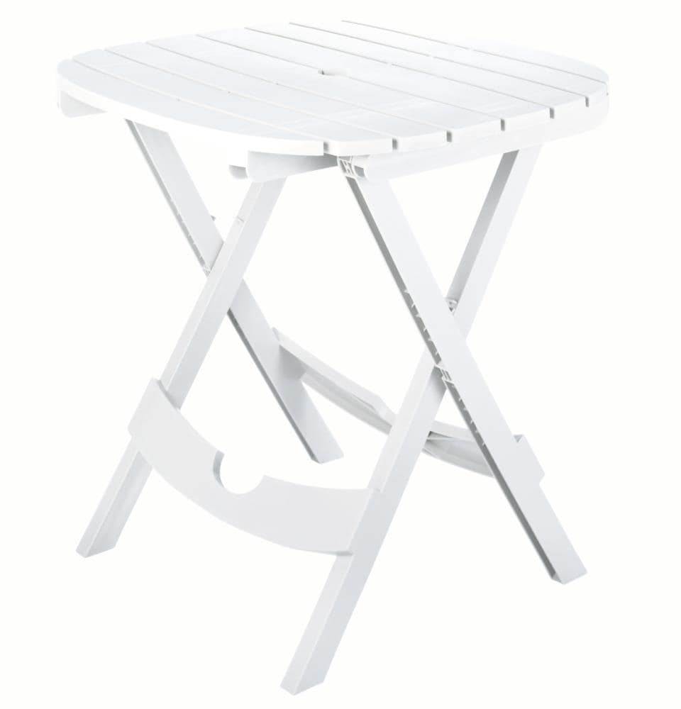 Umbrella Hole In The Patio Tables, Small Round Folding Cafe Table
