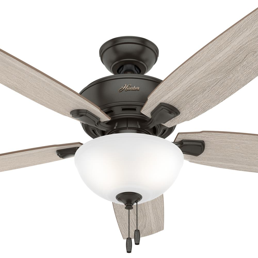 Hunter Creekside 52 In Noble Bronze Led Ceiling Fan With Light 5 Blade In The Ceiling Fans Department At Lowes Com