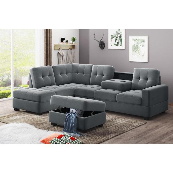 Boyel Living 3 Piece Sectional Sofa Set, Living Room Sectional