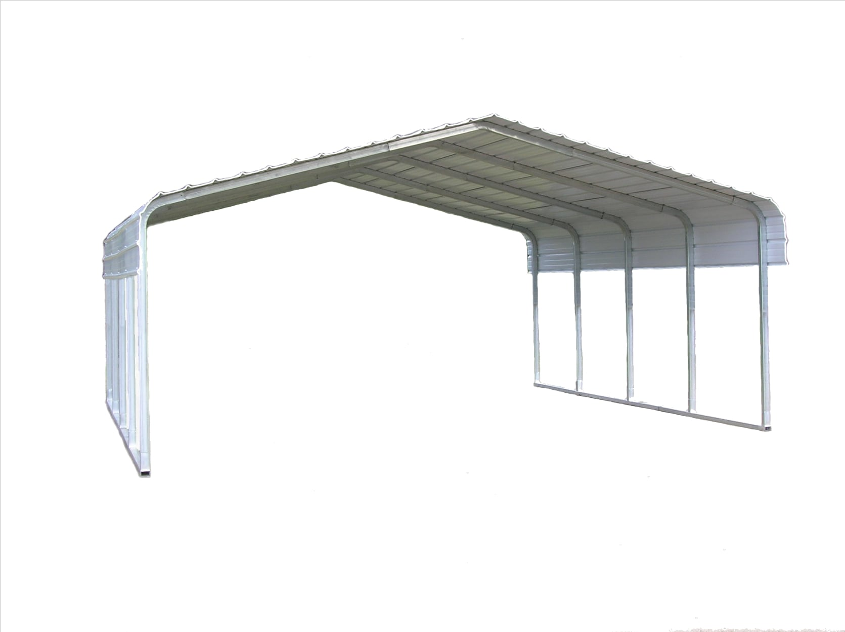 Versatube 18 Ft X 20 Ft White Metal Carport In The Carports Department At Lowes Com