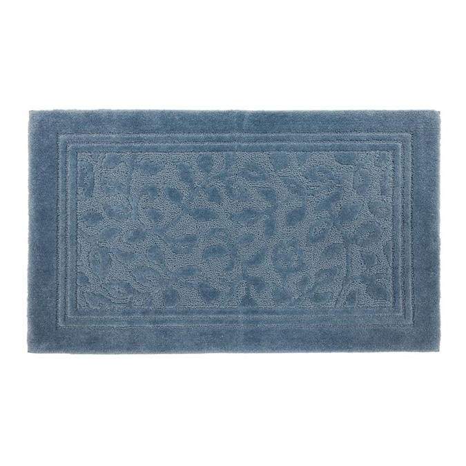 Blue Nylon Bath Rug, 30 X 50 Bathroom Rugs