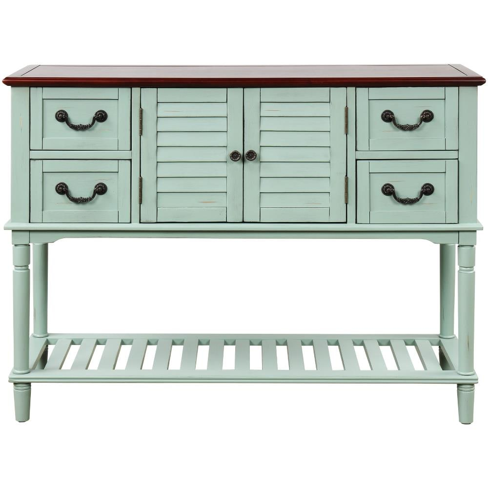 Casainc Console Table Sideboard For, Console Table With Storage Bins