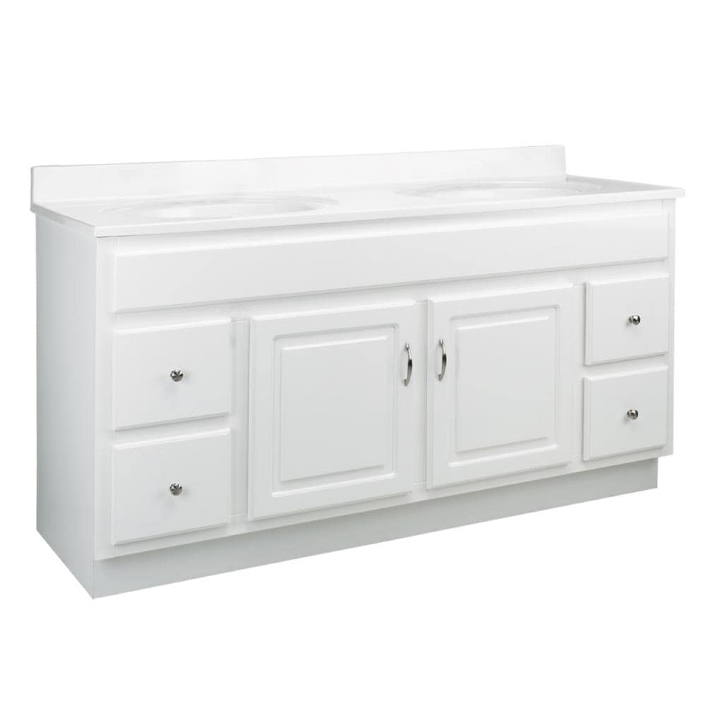Design House Concord 60 In White Bathroom Vanity Cabinet In The Bathroom Vanities Without Tops Department At Lowes Com