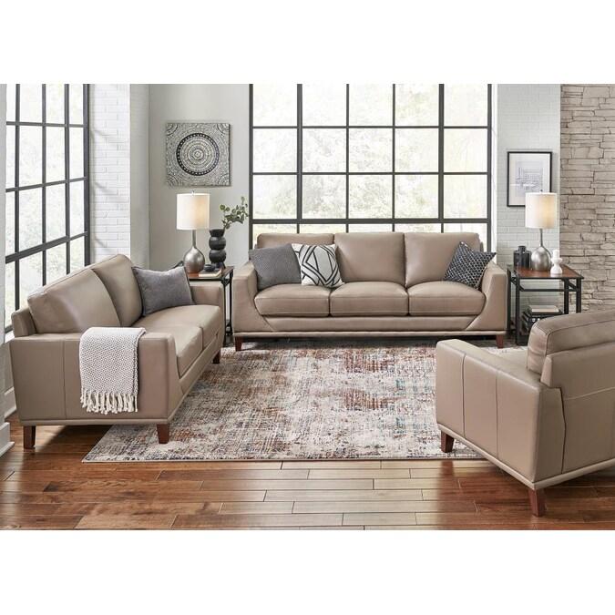 Hydeline Soma 100 Leather 3 Piece, 3 Piece Living Room Sets