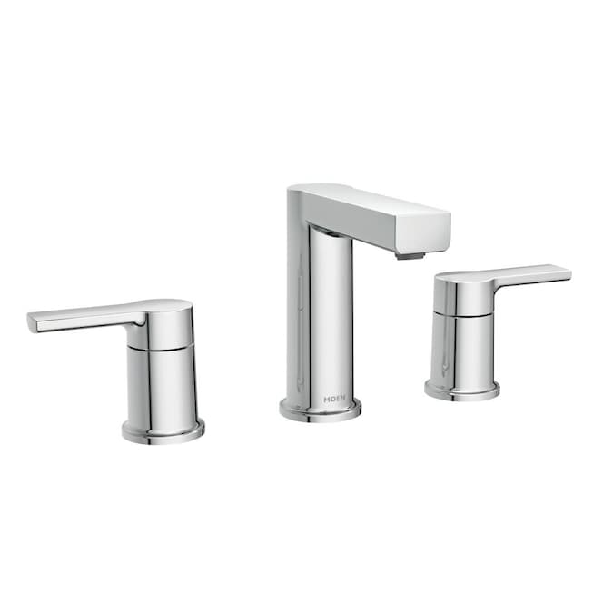 Moen Rinza Chrome 2 Handle Widespread Watersense Bathroom Sink Faucet With Drain In The Bathroom Sink Faucets Department At Lowes Com