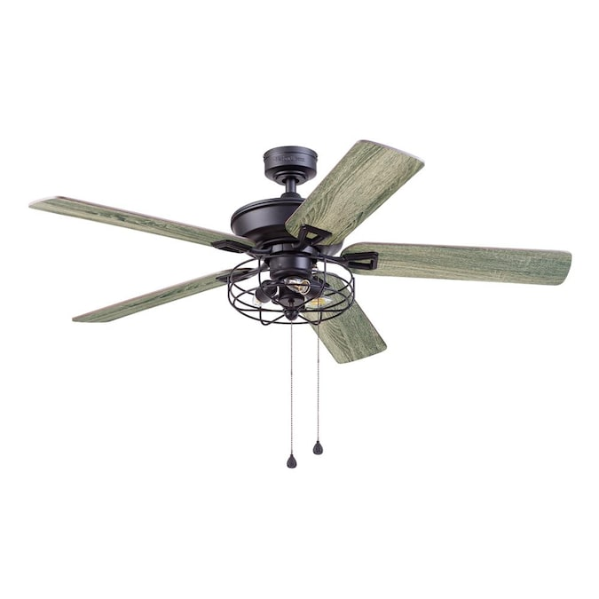 Harbor Breeze Hamilton 52 In Matte Black Led Ceiling Fan 5 Blade In The Ceiling Fans Department At Lowes Com