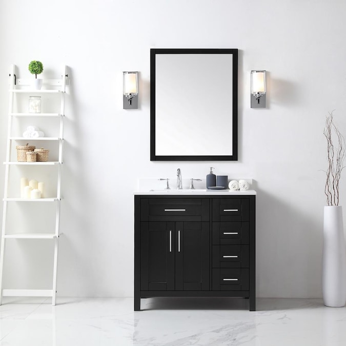 Ove Decors Tahoe 36 In Espresso, How Big Should A Mirror Be For 36 Vanity